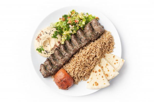 GROUND BEEF & LAMB KEBAB PLATE